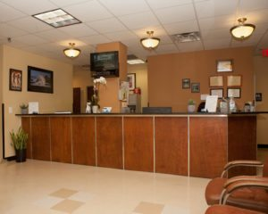 "Front Desk in the Astoria Chiropractic Center ""Prestige Health & Wellness"""
