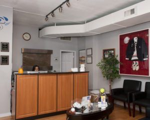 "Front Desk in the Chiropractic Center ""Prestige Health & Wellness"" in Gramercy"